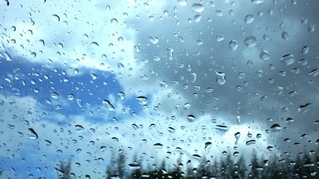 natural rain drops on mirror video