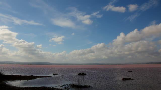 натуральный salt lake. соляная шахта отрасли - илистая пойма стоковые видео и кадры b-roll