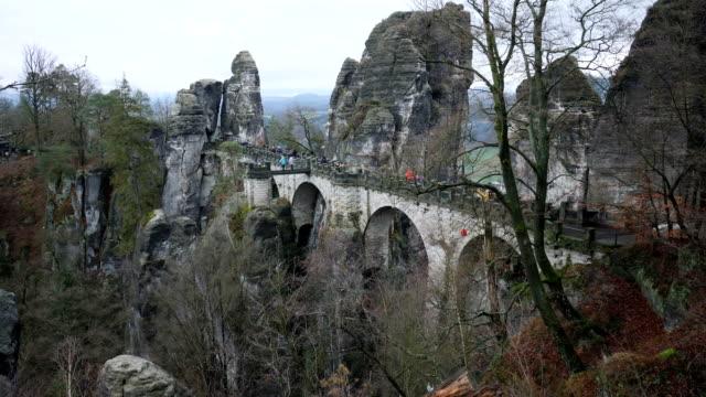 Natural stone monument Bastai Bridge in Saxon Switzerland