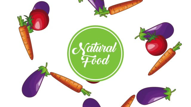 Natural vegetables food HD animation Natural vegetables food over Eggplant tomatos and carrot falling background high definition animation colorful scenes the four elements stock videos & royalty-free footage