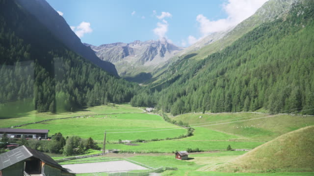 natural view while taking bus to Kühtai in summer, Tyrol, Austria