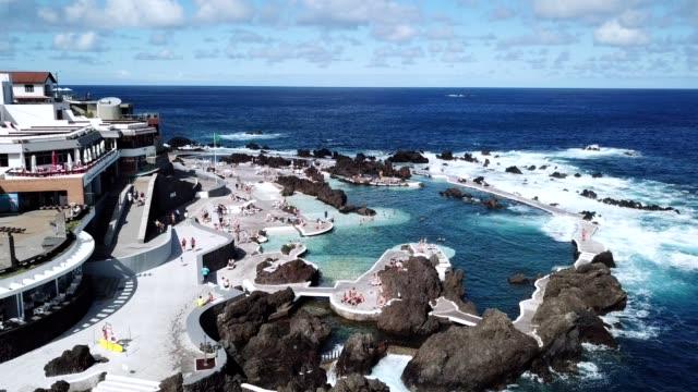 natural volcanic pools at Porto Moniz, Madeira island