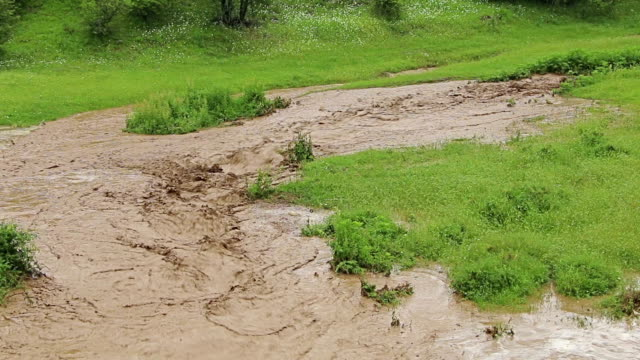 Natural water flood, deluge, inundation, floodwaters, overflow, spate. video