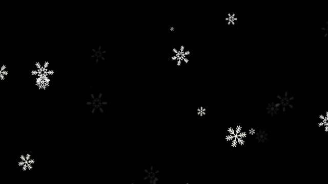 natürliche winter schnee weihnachten schleife animation grün bildschirm alpha - schneeflocken stock-videos und b-roll-filmmaterial