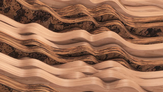 vídeos de stock e filmes b-roll de natural wood background animation. textured pattern. perfect loop. - madeira material