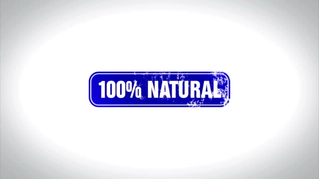 100% Natural Word 3D Animated Wooden Stamp Animation video