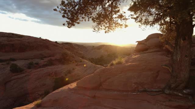natura al tramonto nel sud-ovest degli stati uniti, moab - canyon video stock e b–roll