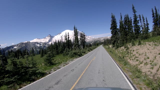 Nature Drive POV Mt Rainier Mountain Road