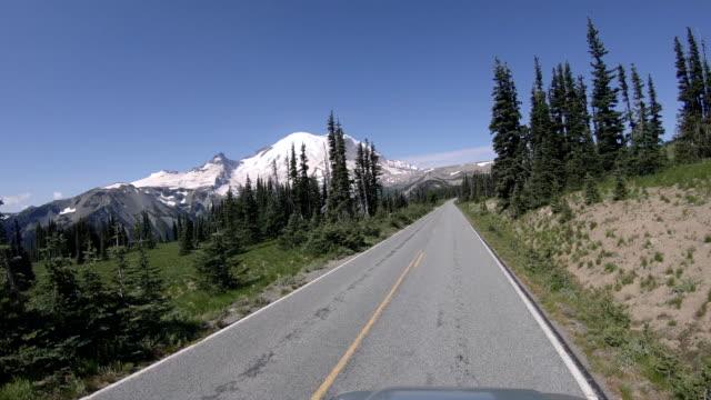 自然ドライブ POV Mt レーニア山の道 ビデオ