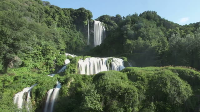 Nature Waterfall Time Lapse In Umbria Region Italy video
