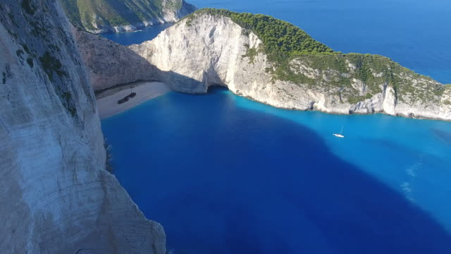 Navagio Beach, Zakynthos island, Greece - video