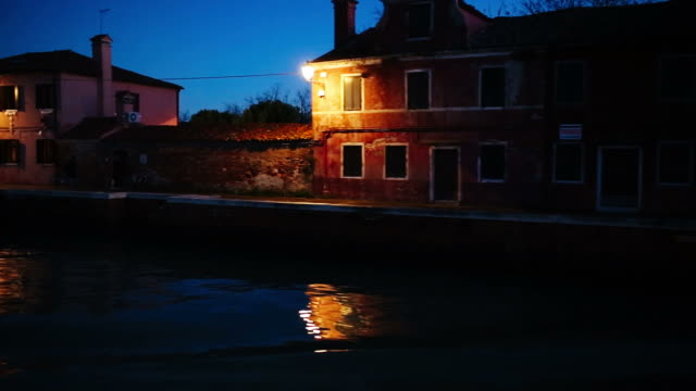 Navigating in Venice. Burano island. Part one video