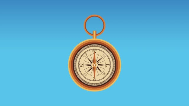 Navigation compass and travel HD animation Navigation compass rotating High Definition colorful animation scenes navigational compass stock videos & royalty-free footage