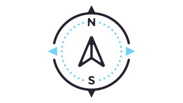 Navigation Line Icon Animation