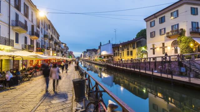 Naviglio-Canal in Mailand, Zeitraffer – Video