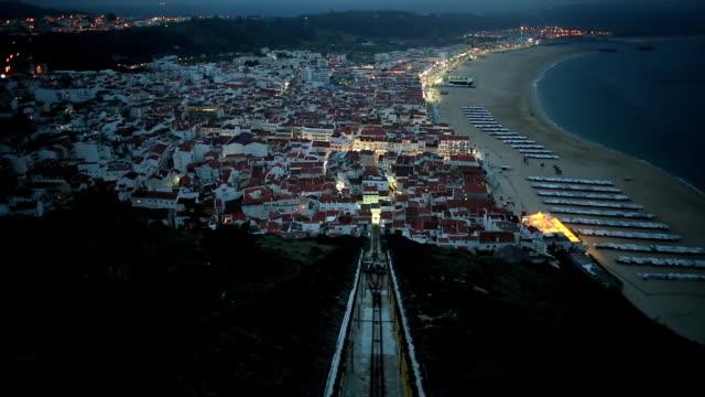 vídeos de stock e filmes b-roll de nazare portugal funicolar - eletrico lisboa