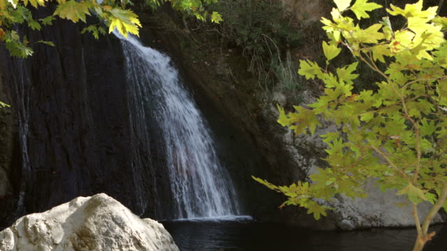 Nebiler Waterfall and Autumnal Leaves video