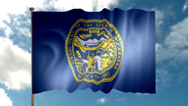 nebraska state flagga - 4 kilometer bildbanksvideor och videomaterial från bakom kulisserna