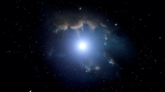 Nebula and bright star. video
