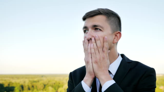 Negative human emotion facial expression feelings video