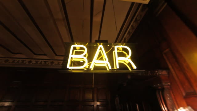 Neon Bar Sign video