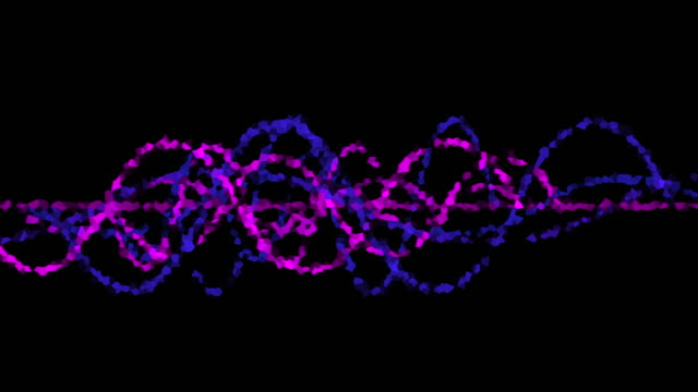 Neon crystal oscilloscope waves on black background