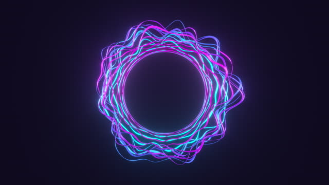 Neon glowing pulsating circles abstract background Neon blue and purple pulsating circles abstract background. Glowing neon lines fluorescent ultraviolet tunnel. Modern ultraviolet colorful light. 4K seamless loop 3D animation. pulsating stock videos & royalty-free footage