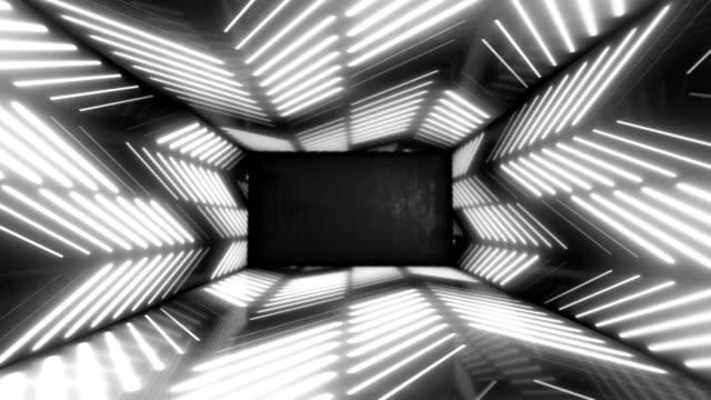 stockvideo's en b-roll-footage met neon led glowing lights stargate loop abstract background 4k - visuele hulpmiddelen