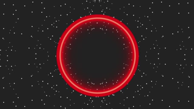 Neon Light Glowing Circle Dark Dots Background Black Friday