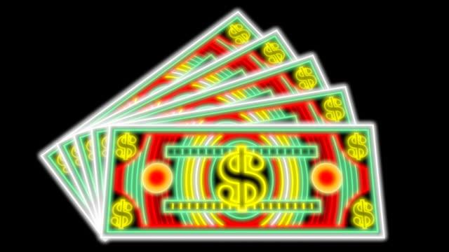 Neon lights Money (3 loops) video