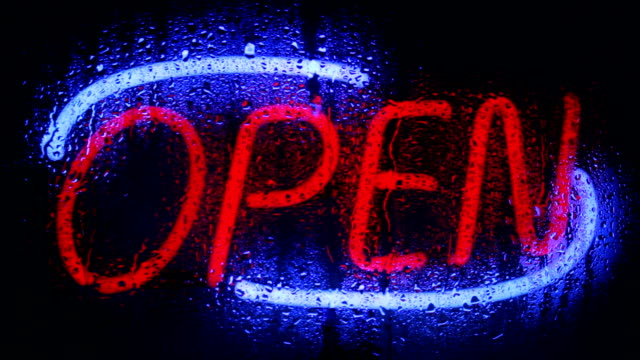 neon open sign - open sign stock videos & royalty-free footage