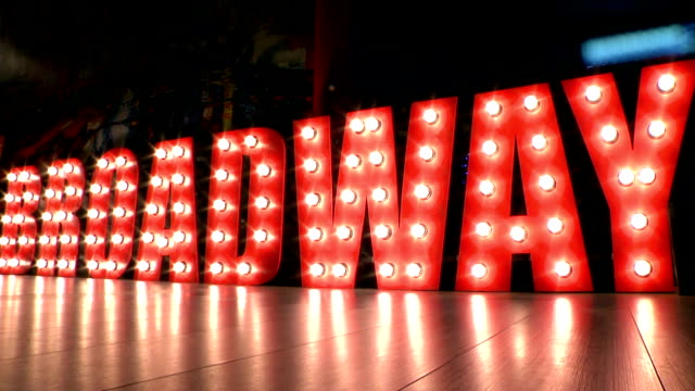 Neon sign, Brodway video