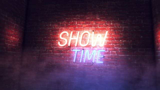 SHOW TIME Neon Sign
