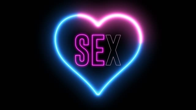 Neon text of