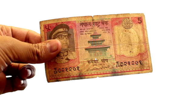 Nepalese Bank Note 5 Rupees video