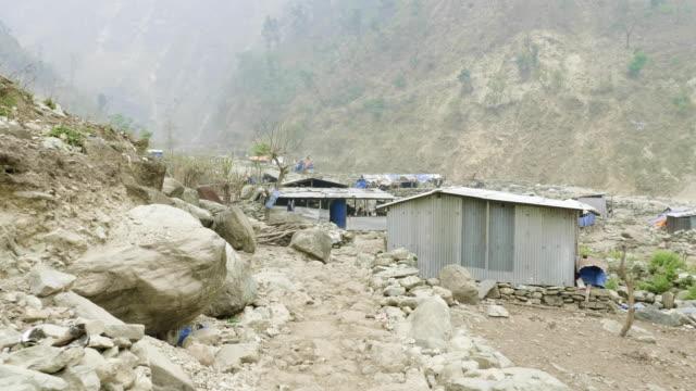 マナスル回路トレッキング ネパールの村。 - ネパール人点の映像素材/bロール