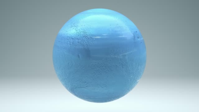 Neptune Rotating Seamless 4K with Luma Matte