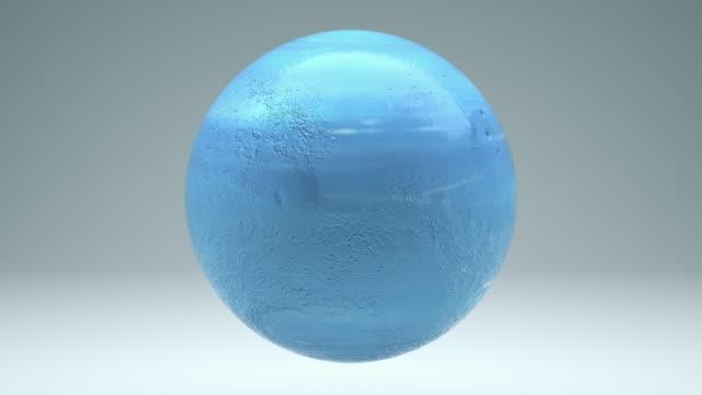 neptune obrotowy bez szwu 4k z luma matte - jowisz filmów i materiałów b-roll