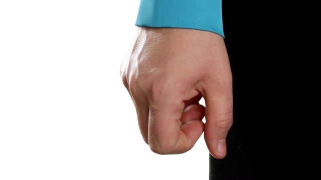 nervosamente serrati i pugni donna d'affari - bassino video stock e b–roll