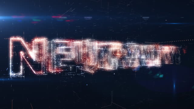 net neutrality words animation - censura video stock e b–roll