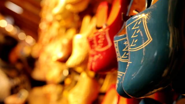 Netherland souvenir wood shoe video