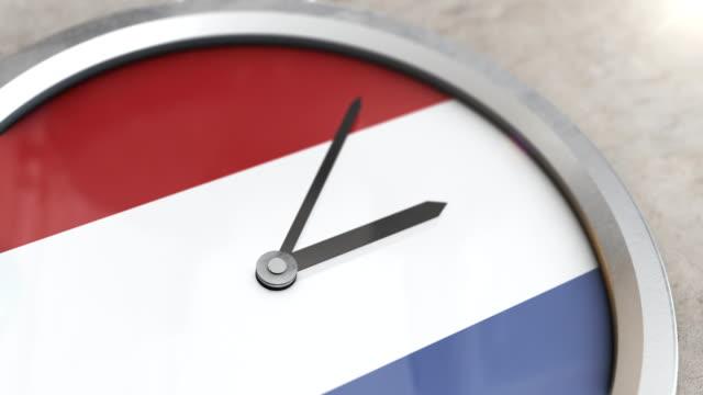 オランダクロックタイムラプス - キューケンホフ公園点の映像素材/bロール