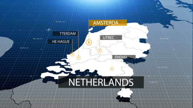 Netherlands map with label then with out label video