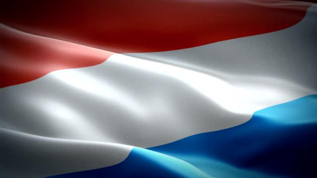 オランダは旗を振って。ナショナル3d オランダの旗を振って。オランダのシームレスループアニメーションのサイン。オランダフラグ hd 解像度の背景。プレゼンテーションのためのオランダ - オランダ点の映像素材/bロール