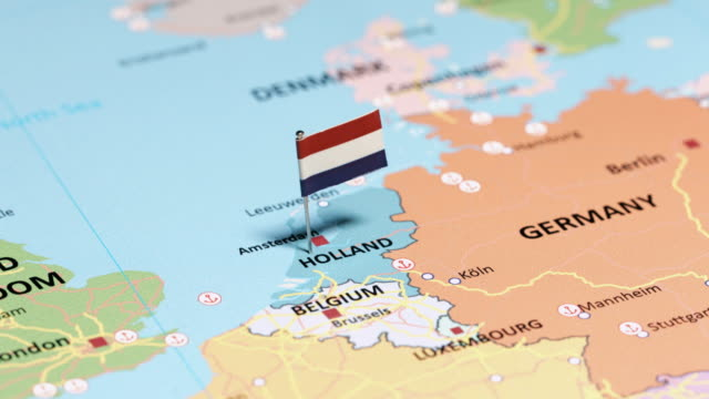 Netherlands with National Flag tracking to Netherlands with National Flag netherlands stock videos & royalty-free footage