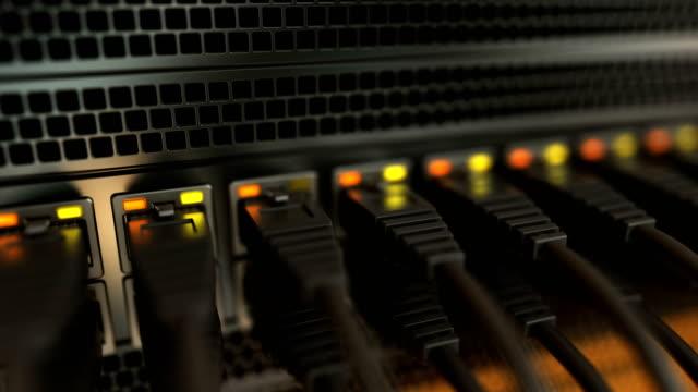 server ağ kabloları - kesit stok videoları ve detay görüntü çekimi