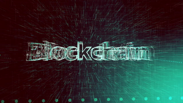 stockvideo's en b-roll-footage met netwerk concept animatie, blockchain word - blockchain