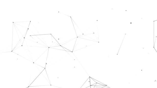 struttura connessione di rete - elemento del design video stock e b–roll