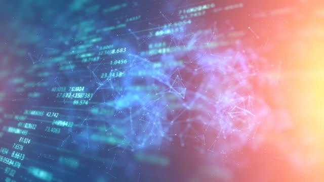 ネットワーク接続のシミュレーション、インターネット通信、大きなデータ、モ ノのインターネット - ai点の映像素材/bロール