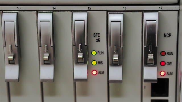 Network control system Alarm status in network system mainframe stock videos & royalty-free footage